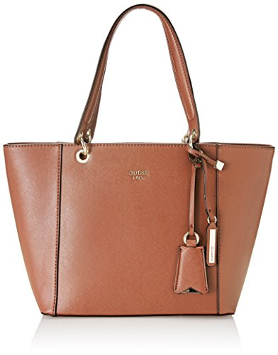 GUESS womens Kamryn Tote Shoulder Handbag, Cognac, One Size US