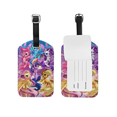Gepäckanhänger My Sweet Little Pony Family Verstellbarer Gurt Leder-Gepäckanhänger für Koffergepäck
