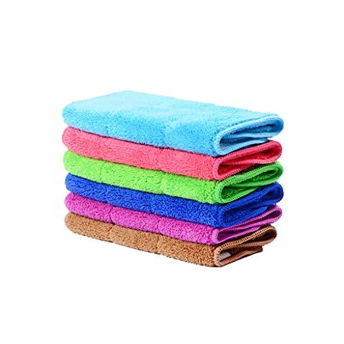Dongxiao Paño de limpieza para platos, paño grueso y suave, para cocina, apto para cocina, mesa, toalla de limpieza, 5 piezas (cantidad: 5)
