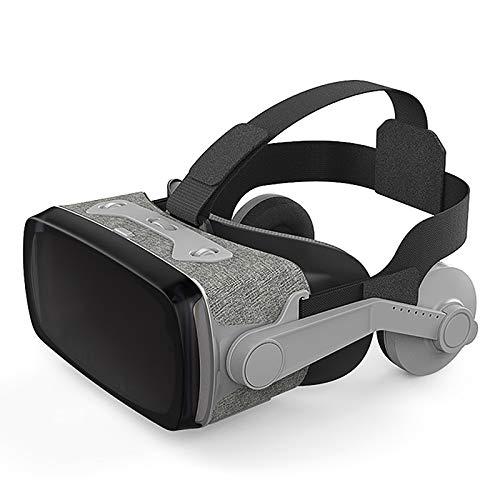LSJZZ Auriculares de Realidad Virtual, Gafas 3D para Juegos y películas en 3D, Auriculares de Realidad Virtual para teléfonos móviles, adecuados para niños y Adultos.