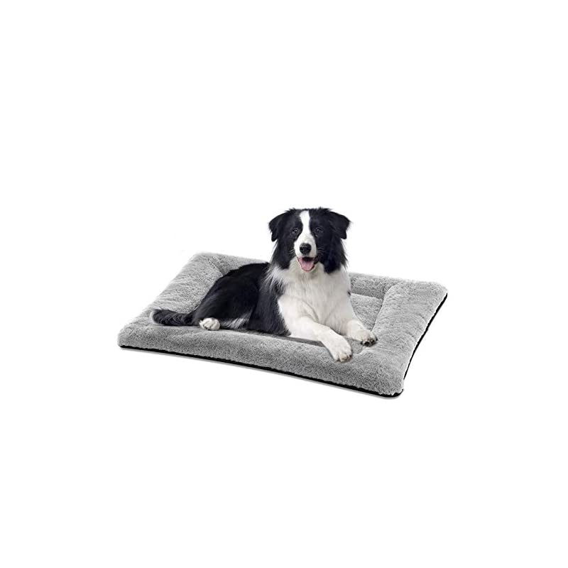 dog supplies online siwa mary dog bed mat soft crate pad washable anti-slip mattress for large medium small dogs and cats kennel pad (36inch,grey)