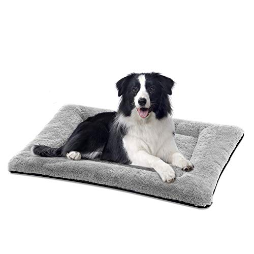 SIWA MARY Dog Bed Mat Soft Crate Pad Washable Anti-Slip Mattress for Large Medium Small Dogs and...