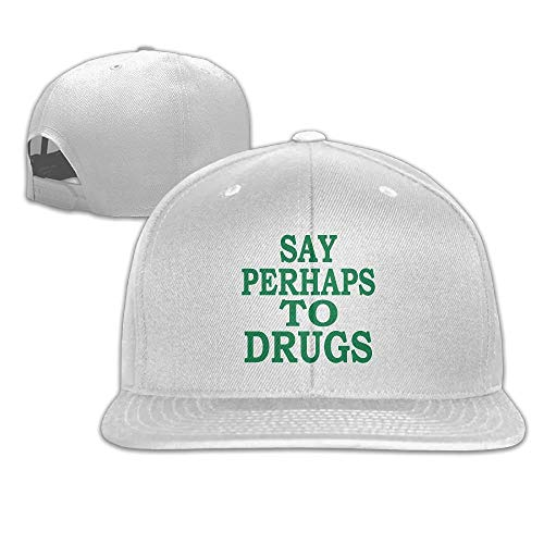 Funny Bag Womens Say Perhaps to Drugs Dad Hat Buckle Strap Holiday Operater Hat