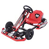 Electric Kart for Kids, 36V Electric Drifting Go Kart 4 Wheel Ride on Car, Pedal Powered Ride On Toys for Boys & Girls with Adjustable Seat, Pedal Cart for Kids (Red)