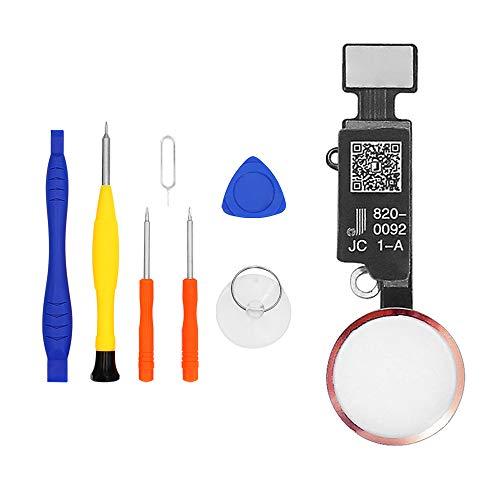 LL TRADER Botón de Inicio para iPhone 7,7 Plus,8,8 Plus Versión 5.0 Reemplazo de Home Button con Cable Flexible (Oro Rosa)