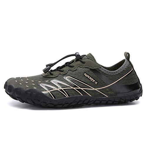 YLiansong-home Zapatos de Agua Zapatos de los Hombres de Secado rápido al Aire Libre señoras de Buceo Playa Zapatos para Nadar (Color : Green, Tamaño : 44)