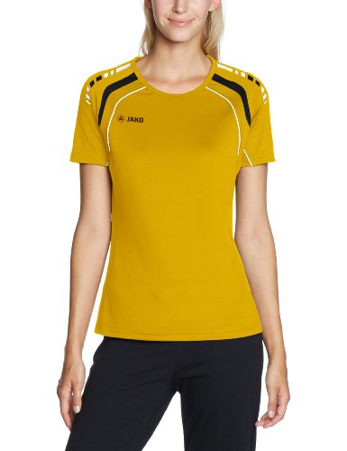 JAKO T-Shirt Champion - Camiseta, Color Negro/Amarillo, Talla 48/50