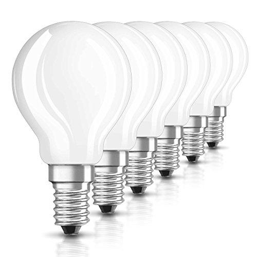 Osram LED Star Classic P Lampe, in Tropfenform mit E14-Sockel, nicht dimmbar, Ersetzt 2.8 W = 25 Watt, Matt, Warmweiß - 2700 Kelvin, 6er-Pack