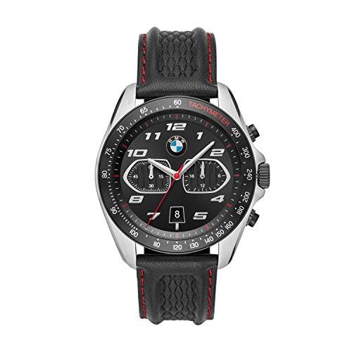 BMW Herren Quartz Uhr mit Leder Armband BMW7006