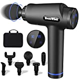 Massage Gun Deep Tissue, Handheld Muscle Massage Gun, Percussion Body Massager with 6 Massage Heads & 30 Adjustable Speeds, LCD Display, Portable Electric Fascia Massage Device for Muscle Pain Relief - Best Reviews Guide