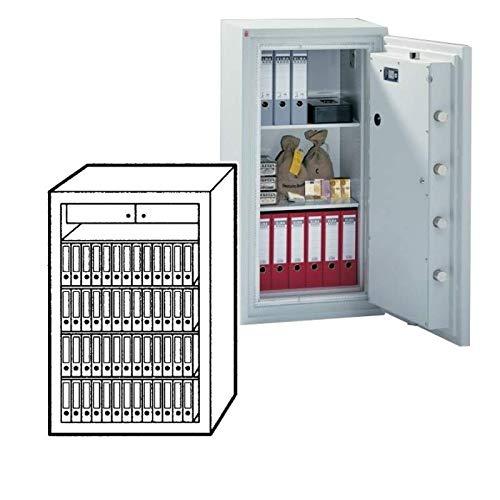 Sistec Wertschutzschrank SE 5 180/2 KB, Elektronisches Tastenschloss SECU SELO B + Mechanisches Zahlenkombinationsschloss, Grad 5KB nach EN 1143-1, H180xB119xT73 cm, 2060 kg