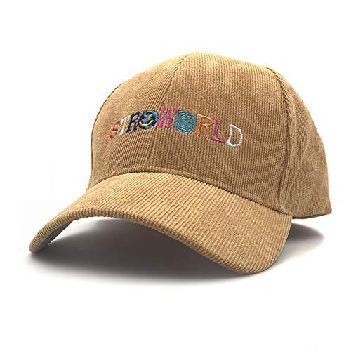 FXSYL Papa Hut Baseball Cap Cord Snapback Cap für Männer Frauen Hip Hop Knochen Snapbacks,Gelb