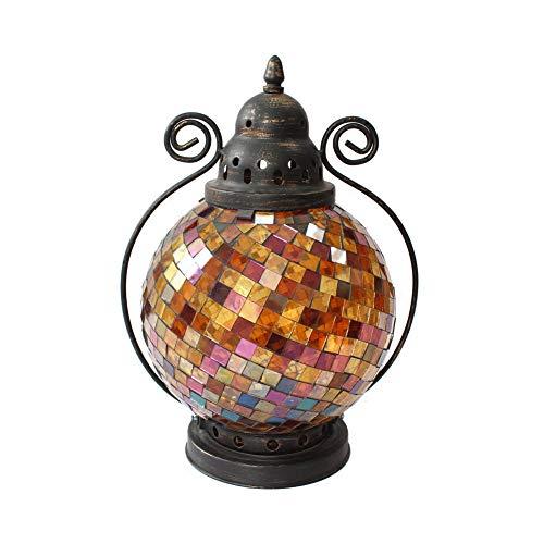 ppzt Mosaik-Kerzenhalter Kerzenlicht Abendessen Outdoor Windlicht Home Dekoration Basteln Dekoration
