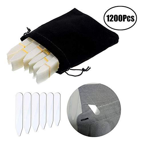 LEBQ 600 Stücke Kragen Bleibt Kunststoff Kragen Bleibt Knochen Versteifungen für Herren Hemd, 6 Gemischte Größen (Klar)