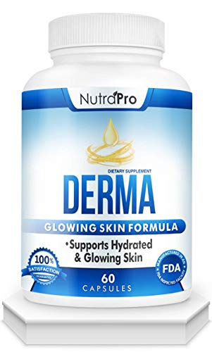 Derma Skin Supplement for Hydrated, Glowing Skin – Dermal Repair Complex with Phytoceramides & Alpha Lipoic Acid. Fast Absorbing Hydration Pills by NutraPro .60 Liquid Capsules | Launch Special |