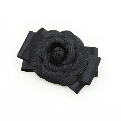 Meilliwish Nouveau style Gros Fleur Beau Mariage Épingle à cheveux Pince à cheveux pour les femmes Filles (A101)(Black)