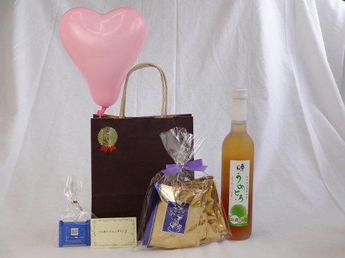 贈り物 (完熟梅の味わいと日本酒のうまみをたっぷりの梅リキュール うめとろ500ml 7%奥の松酒造(福島県)+挽き立て珈琲(ドリ