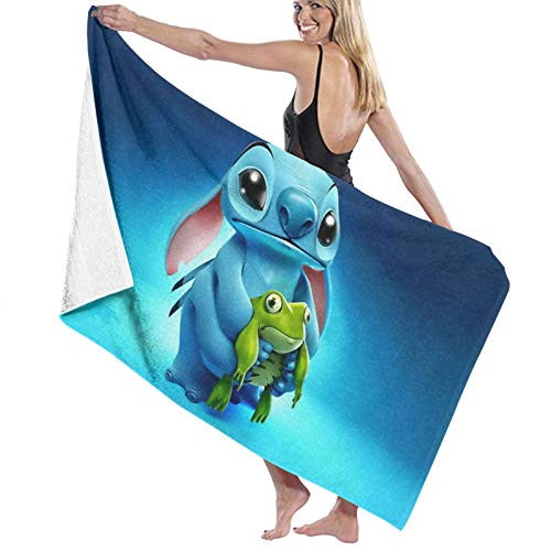 S-titch Animation Printed Beach Towels, High Absorption, and Quick-Drying Beach Towels Printed Beach Towels 27.5inx55in Y7