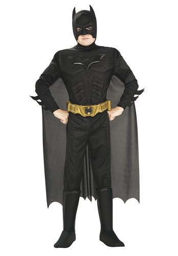 Rubie's 880401-L Déguisement de Batman musclé de The Dark Knight Rises pour enfant, fourni dans une boîte