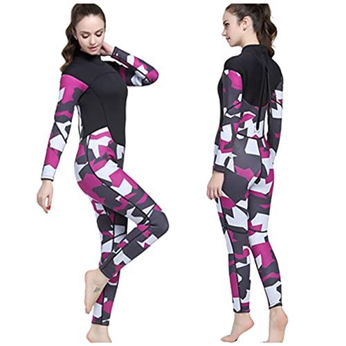 Traje de neopreno de 3 mm para mujer, sin mangas, de una pieza, con cremallera frontal, de neopreno, para buceo, surf, natación, color gris, M