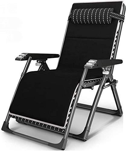 LVYE1 MRMF Sillón reclinable Plegable, sillones al Aire Libre Tumbonas Sillas Zero Gravity Sillón Acolchado Ajustable, Suave y cómodo, soporta 440 Libras