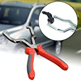 Stainless Steel Rubber Grip Fuel Line Petrol Clip Pipe Plier Hose Release Disconnect Removal Pliers Tool