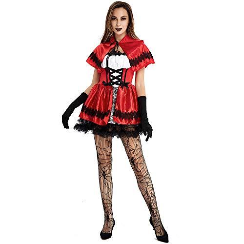 Cosplay Mujeres M XXL de Talla Grande para Mujer de Halloween para Mujer Cosplay Caperucita Roja Disfraz de Juego Uniforme Sexy Anime Cosplay Disfraz A XL