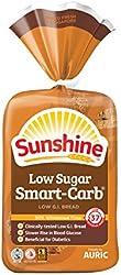 Sunshine Low Sugar Smart-Carb Low G.I. Bread, 360g
