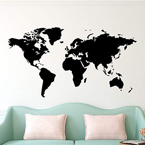 BFMBCH Pegatinas de pared grandes Calcomanías Mapa del mundo Casa Dormitorio Decoración Papel tapiz Mural Pegatinas de pared Pegatinas de decoración de sala Pegatinas de pared Gris XL 58cm X 106cm
