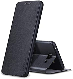 Samsung Galaxy J7 Prime O7 (2016) Leather Case Cover - Black