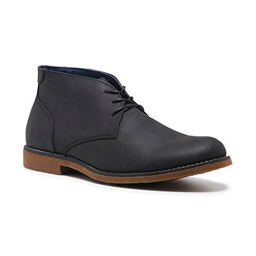 Hush Puppies Men's Terminal Desert Boot, Black, 8 AU