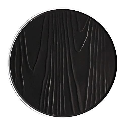 YNHNI Platos de ensalada Plato de cerámica para el hogar Utensilios de cocina europeos Placa de carne occidental Panel italiano Fruta Hermosa placa negra (Color: Negro, Tamaño: 30,8 cm)
