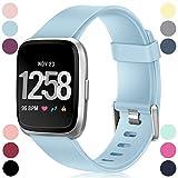 HUMENN Compatible avec Fitbit Versa Bracelet/Fitbit Versa 2 Bracelet, Bande en TPU Silicone Souple de Remplacement...