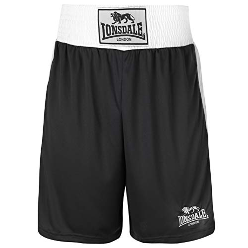 Lonsdale Herren Boxing-Shorts, kurze Hose, Training-Shorts, Sporthose Medium schwarz / weiß