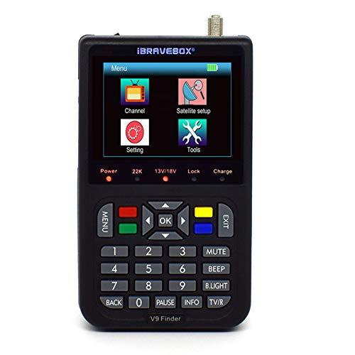 Digital Satfinder - Satelitenfinder Finder V9 HD Sat Messgeräte mit Satellitenerkennung DVB-S/S2/zur exakten Justierung Ihrer Sat Antenne Unterstützung H.265,Deutsche Bedienungsanleitung