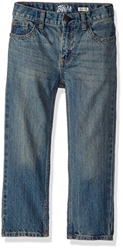 Osh Kosh Boys' Straight Jeans, Blue Copper Tone, 2T
