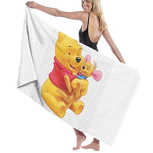 Win-nie The Pooh Toalla de playa de gran tamaño, toalla de microfibra grande, secado rápido, sin arena, toallas de playa para viajes, al aire libre, piscina, deporte, hotel, gimnasio y spa