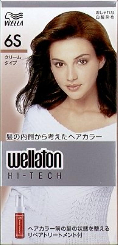 喉が渇いたにおい光【ヘアケア】P&G ウエラトーン ハイテック クリーム 6S 透明感のある自然な栗色 医薬部外品 白髪染めヘアカラー(女性用)×24点セット (4902565140572)