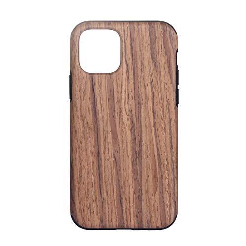 BANAZ Caja Protectora de Madera de Textura de TPU for el iPhone 11 Pro MAX (Color : Red Sandalwood)