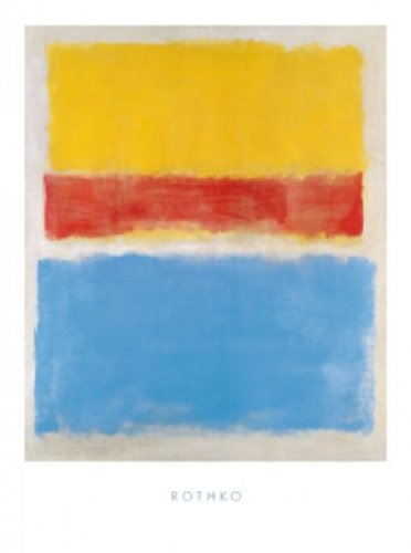 Art-Galerie Kunstdruck/Poster Mark Rothko - Untitled (Yellow-Red and Blue) - 60 x 80cm - Premiumqualität - Made in Germany