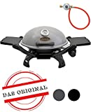 ACTIVA Grill Tischgasgrill Tischgrill Gas Crosby, Camping Grill, 3,4 KW Brenner, Outdoor Tischgrill...