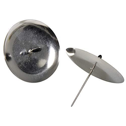 Rayher 2515222 Adventskranz-Kerzenhalter, 8 cm, SB-Btl. 4 Stück, silbe