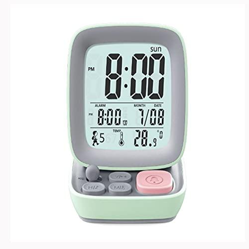 Aiong Reloj Despertador, Reloj Despertador Digital Led para Estudiantes, niños, Relojes de Noche, Reloj de Mesa para Ordenador pequeño Retro para el hogar