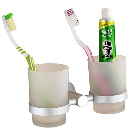 DNSJB Raum-Aluminium Zahnbürste Becherhalter Mouthwash Cup Badezimmer Hardware-Anhänger Zwei Tassen