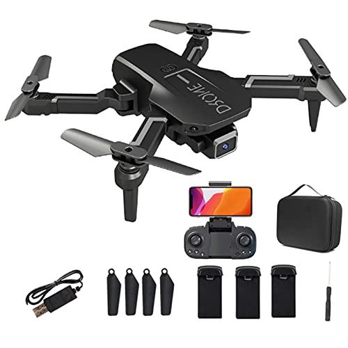 Mini Drone con fotocamera HD 4K per principianti Adulti, FPV Live Video RC Quadcopter per bambini, con movimentazione automatica, Flip 3D, modalità senza testa, un inizio chiave,Nero,3 Battery Pcs