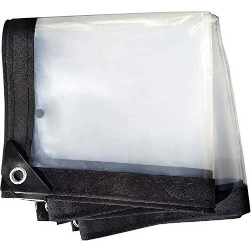 MTYLX Lona Grande Resistente, Lonas, Lonas Transparentes, Espesas, a Prueba de Lluvia, Láminas de Suelo, Cubiertas para Carpas, Láminas de Plástico, Invernadero de Polietileno,Claro,Los 2X3M