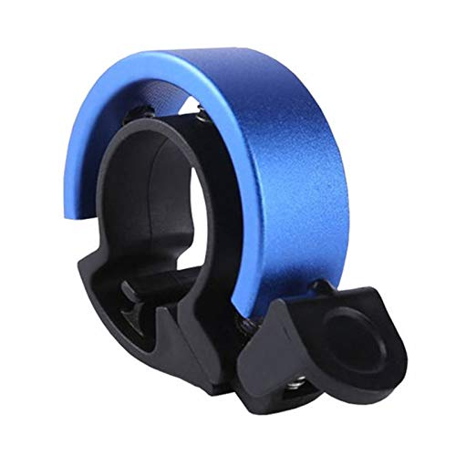 IEMY Fahrradklingel, Mini Aluminiumlegierung Innovative O Design Fahrrad Glocke Für Mountainbike MTB, Lauten Klaren Fahrradglocke, Einfache Montage Rennrad Klingel Fahrradhupe Fahrradzubehör (Blau)