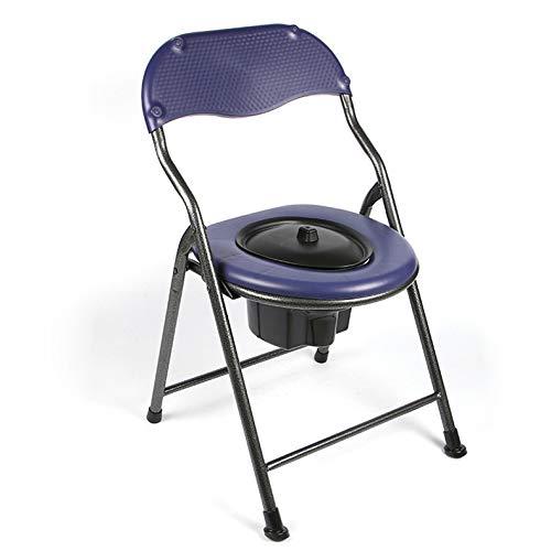 Sedia da Toilette Pieghevole Sedia da Toilette Bagno Mobile per Anziani, Disabili, Portatori di Handicap, Nonni