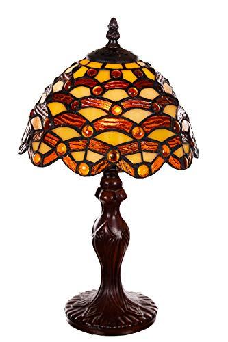 Tiffany Tiffany 156 - Lámpara de mesa (8 pulgadas), diseño de libélula