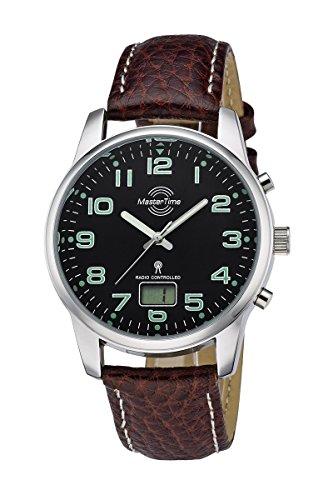Master Time Funk Quarz Herren Uhr Analog-Digital mit Leder Armband MTGA-10426-22L
